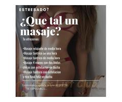 Ven y disfruta de un rico masaje te ofrecemos todo tipo